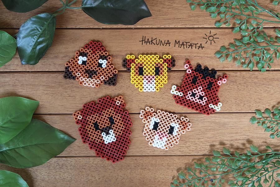 DIY  des aimants Roi Lion en perles Hama (+ grilles) , Je